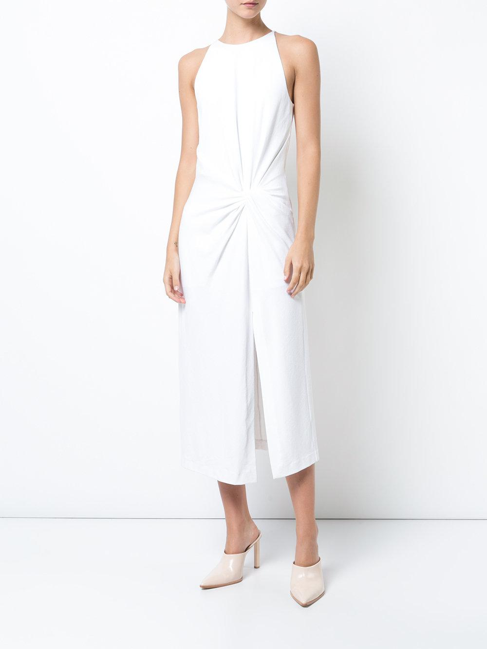 Lyst - Dion Lee Side Twist Tank Dress in White 6edc0230b