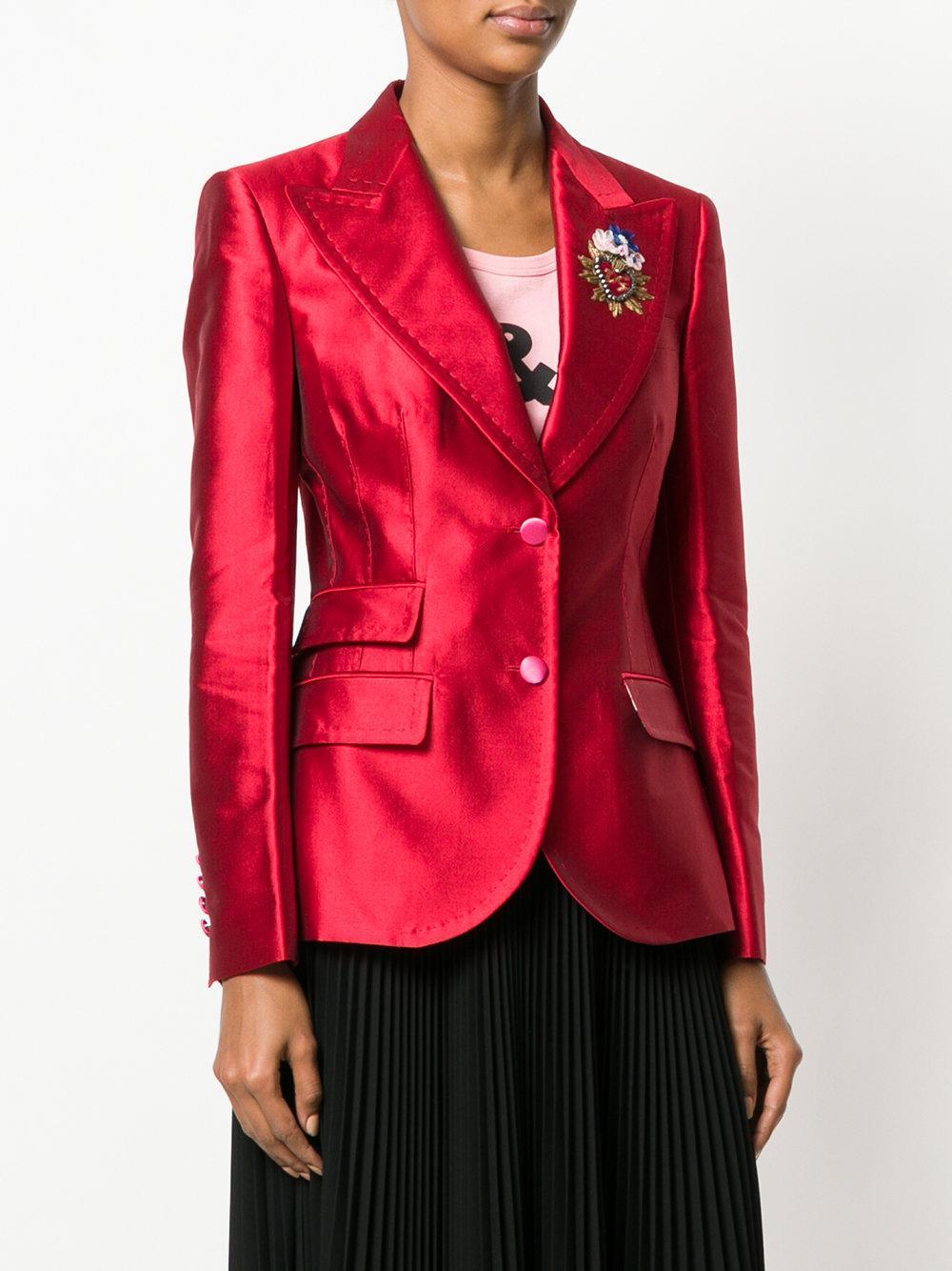Dolce amp; Ornement Lyst À Coloris Blazer En Rouge Gabbana Logo Giacca qwxgOpgXF