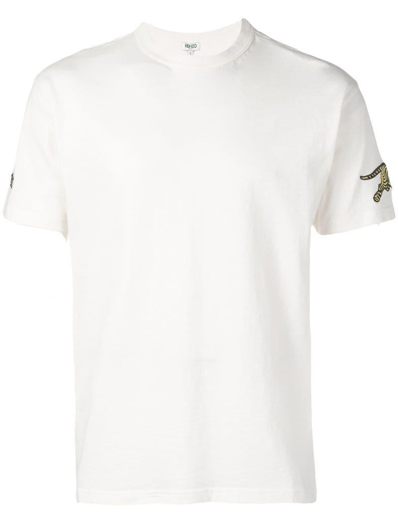 1d0b88925 Lyst - KENZO Tiger Patch T-shirt in White for Men