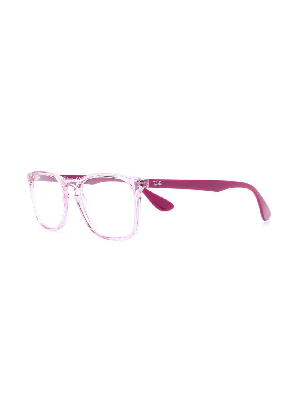 2151d4d45496a Ray-Ban - Pink Square Acetate Glasses - Lyst. View fullscreen