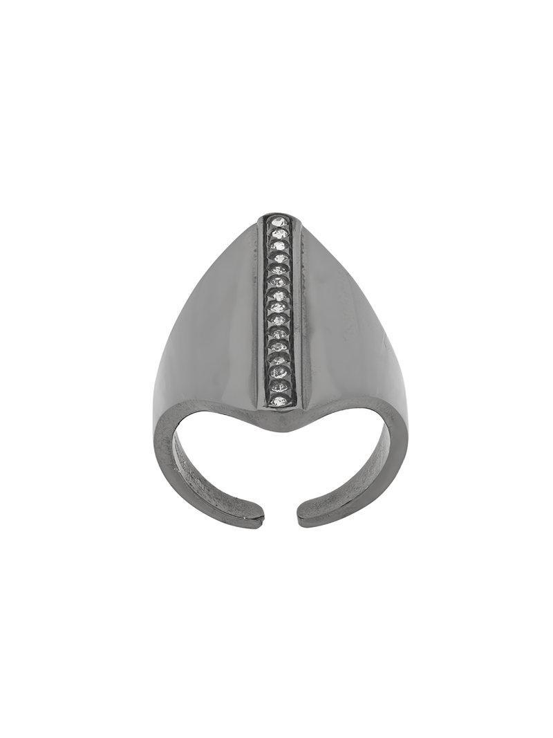 Federica Tosi crystal shield ring - Metallic hkSFAOkN