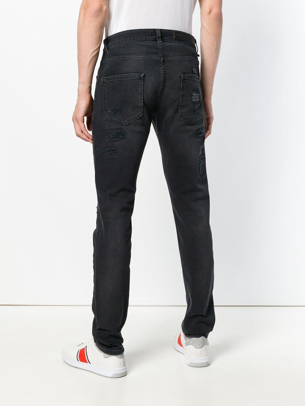 356379389ab82 Philipp Plein - Black Jean slim for Men - Lyst. Afficher en plein écran