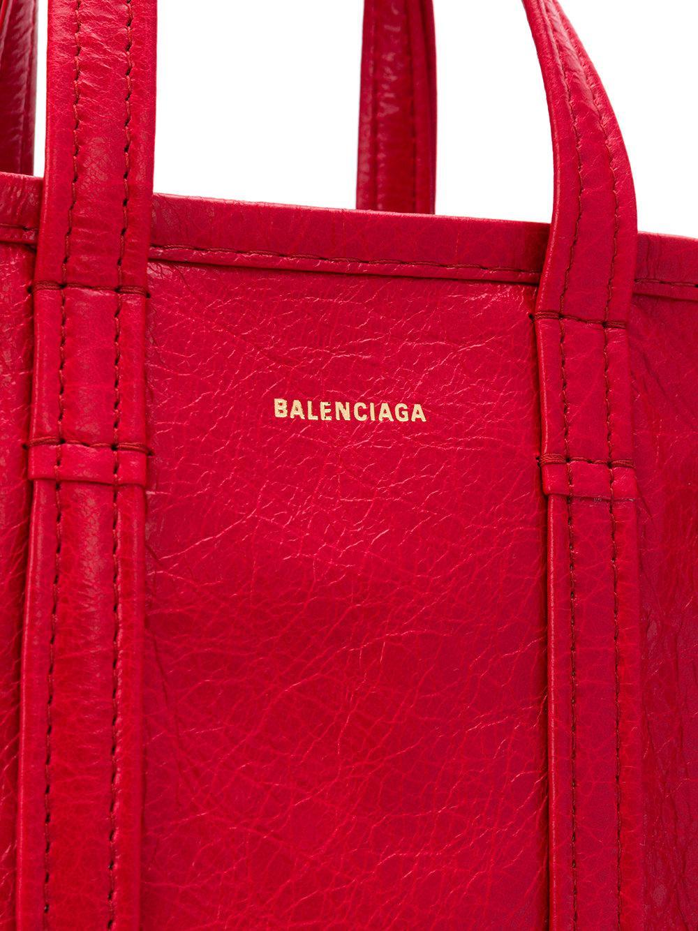 Coloris Main Rouge En Bazar À Xxs Shopper Balenciaga Lyst Sac VMpSUz