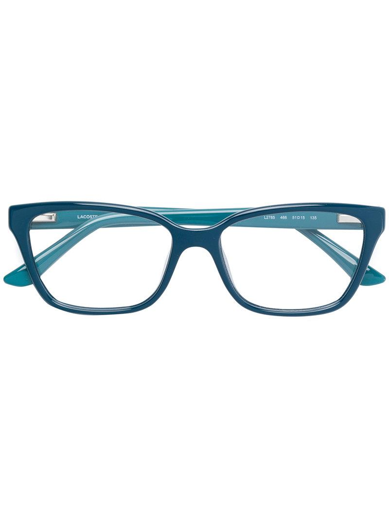 28c0e3a57933 Lacoste Rectangle Frame Glasses in Blue - Lyst