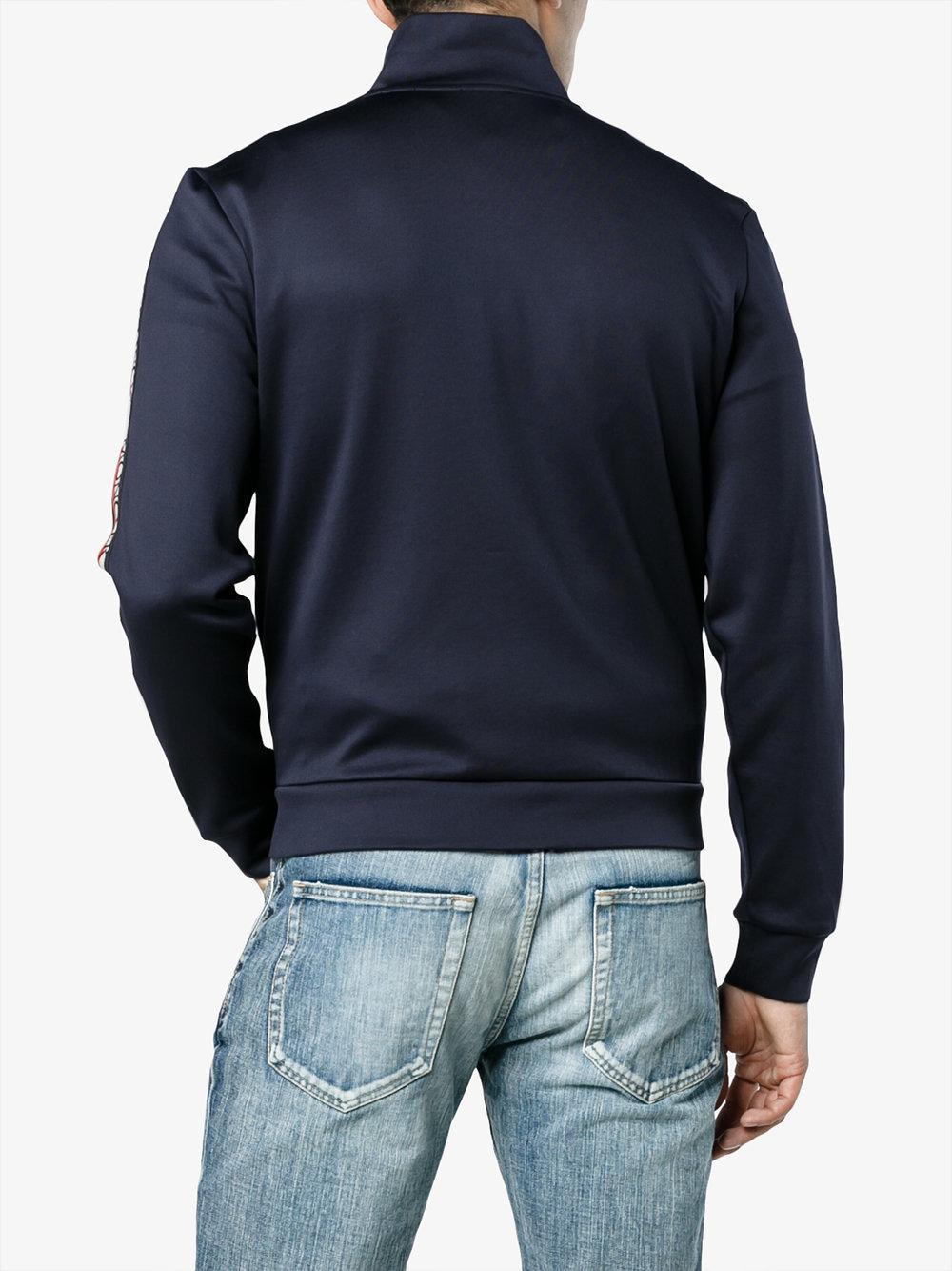 3ac0420fd Lyst - Moncler Side Stripe Jacket in Blue for Men