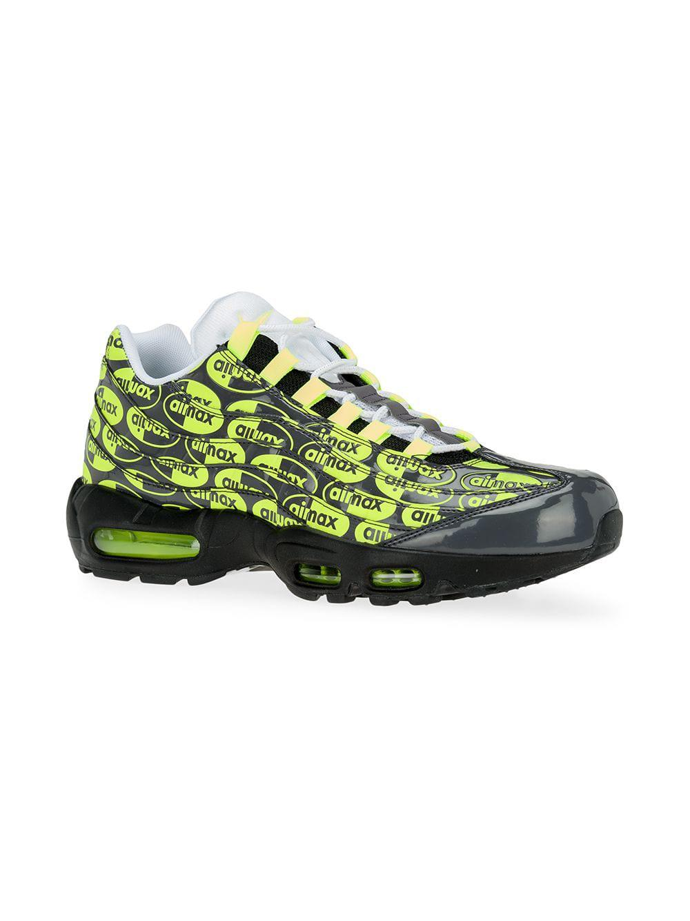 435801bdf30 Lyst - Nike Air Max 95 Premium Logo Sneakers in Black for Men