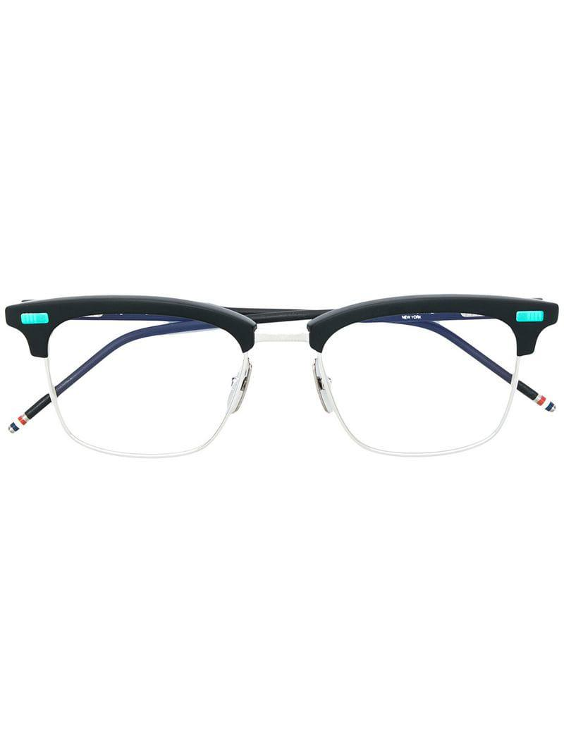 8f21825333a9 Thom Browne Square Shaped Glasses in Black - Save 8% - Lyst
