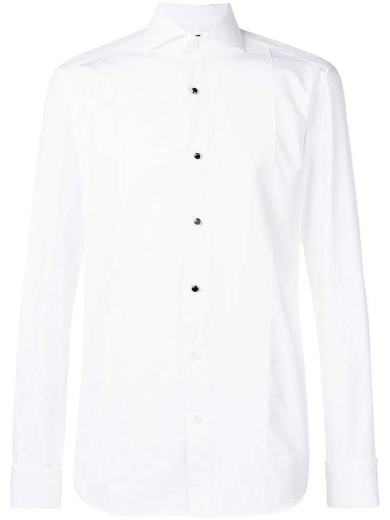 81655958f91 Lyst - Однотонная Приталенная Рубашка BOSS для него