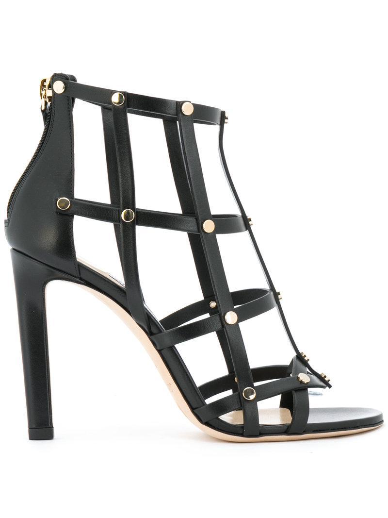 82558d81f2d Lyst - Jimmy Choo Tina Sandals in Black