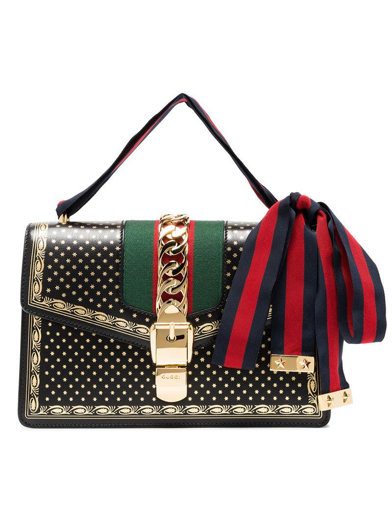 Guccy print mini shoulder bag - Black Gucci EnTHQ5ULQ