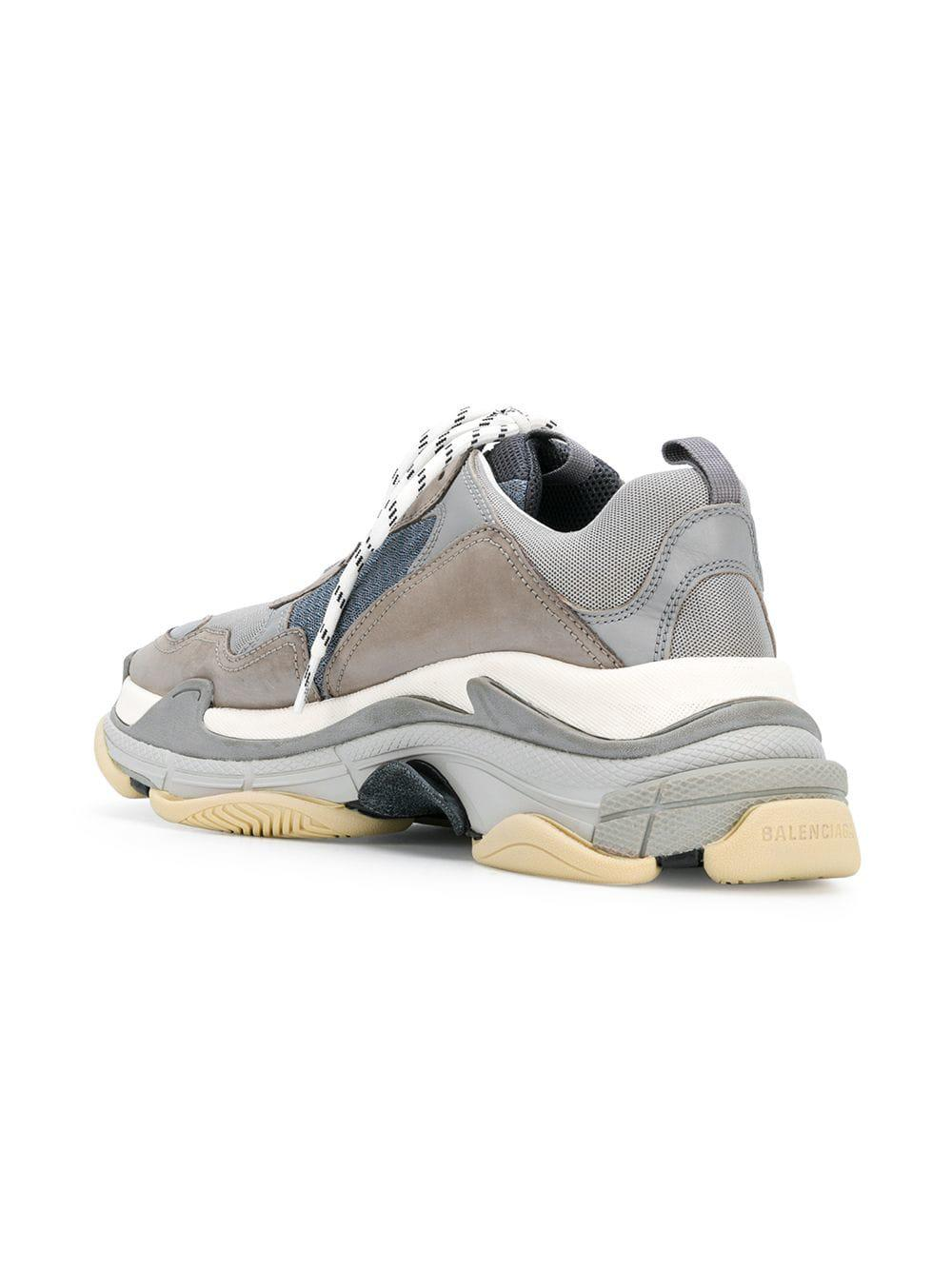 1cbd75d3f5fb ... newest collection ac6a2 4d567 Balenciaga - Gray Triple S Sneakers for  Men - Lyst.