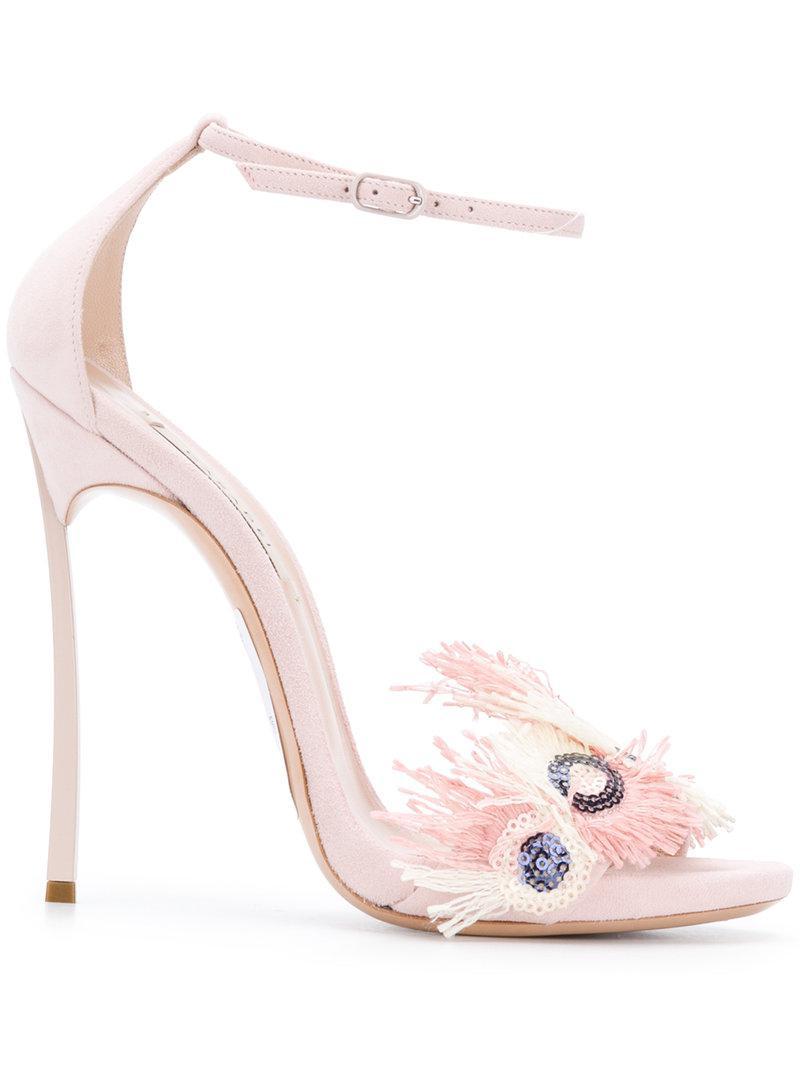 chain-embellished sandals - Pink & Purple Casadei 0rkbRB
