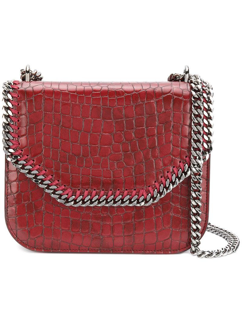 crocodile-embossed Falabella Box shoulder bag - Red Stella McCartney UDPp83wG0C