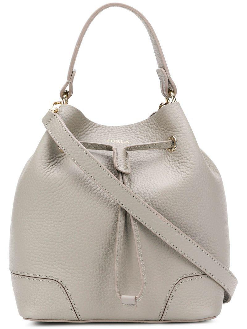 Lyst - Furla Stacy Medium Shoulder Bag in Gray 74edaad8a9c97