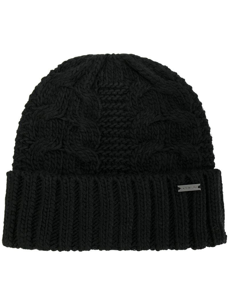 f9d752b4321 Lyst - Michael Michael Kors Links Cable Cuff Hat in Black for Men