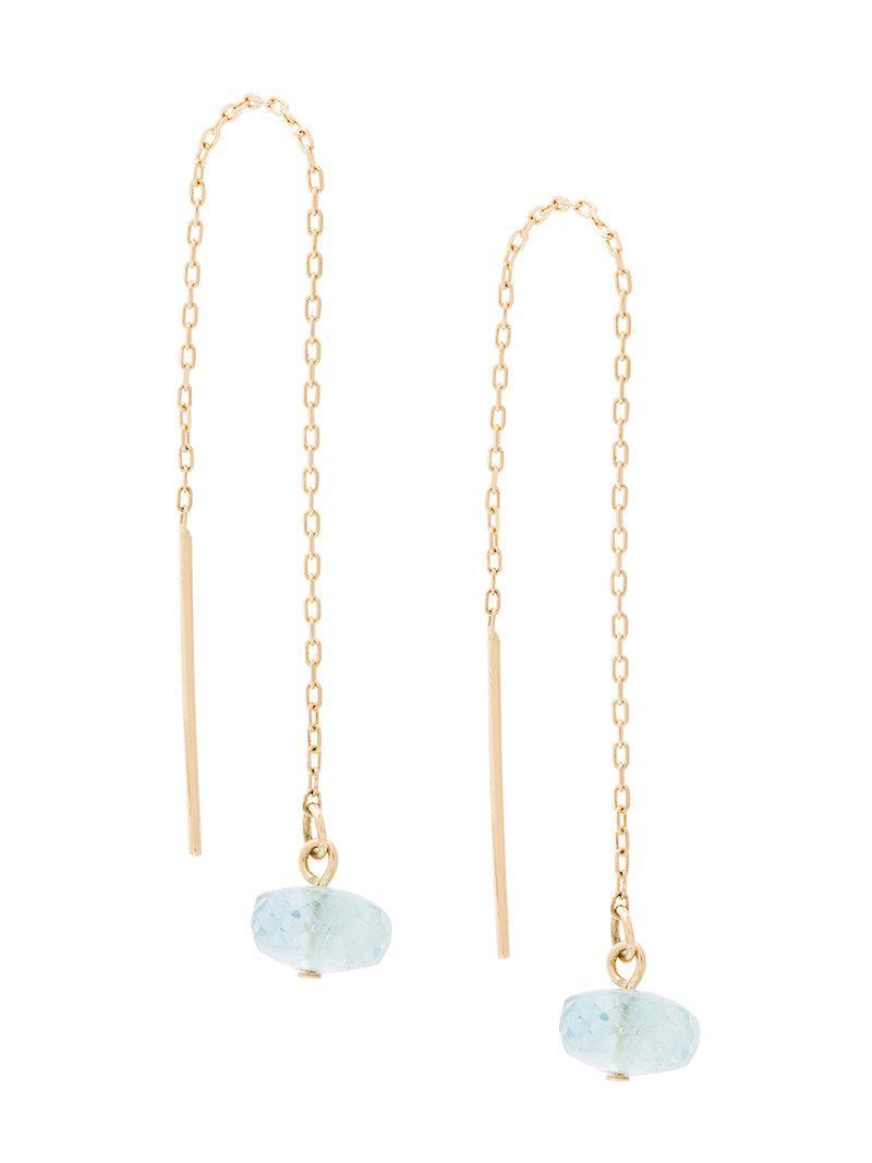 pearl pull-through earrings - White Uzerai Edits 7sxEF