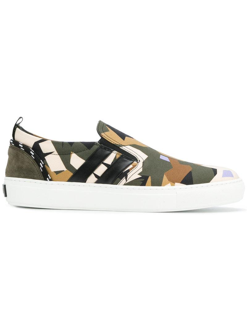 outlet best MSGM camouflage slip-on sneakers cheap price wholesale discount brand new unisex KcEEE