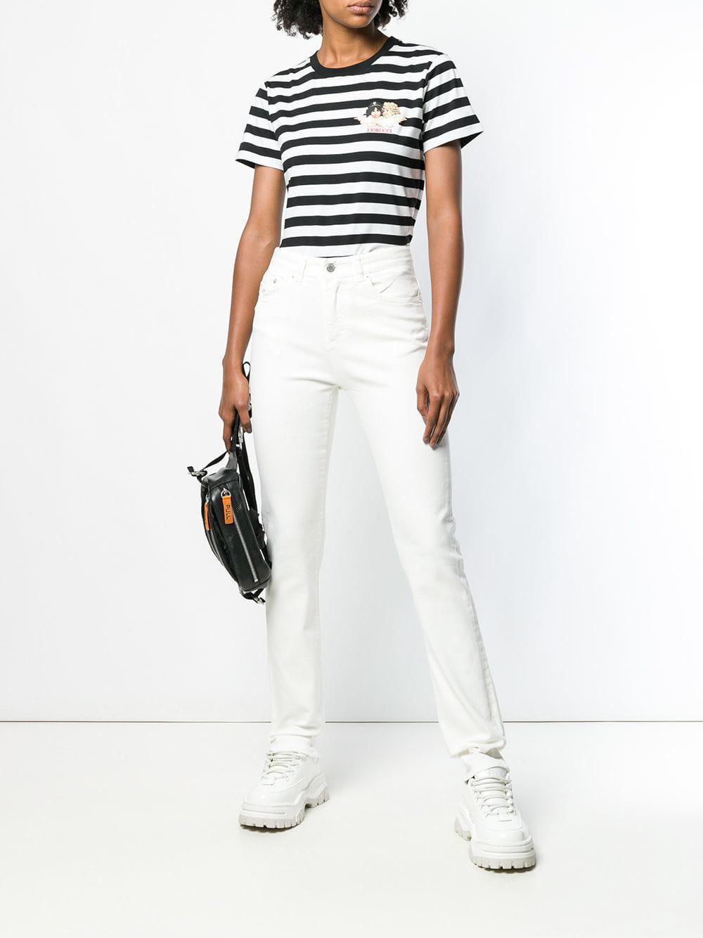 5143398f56e Lyst - Fiorucci Striped Logo T-shirt in Black