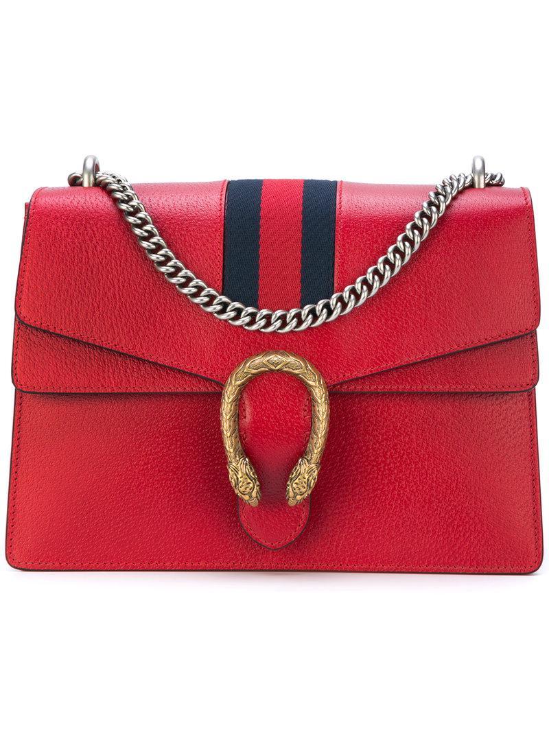 95774afea6de Gucci Dionysus Web Shoulder Bag in Red - Lyst