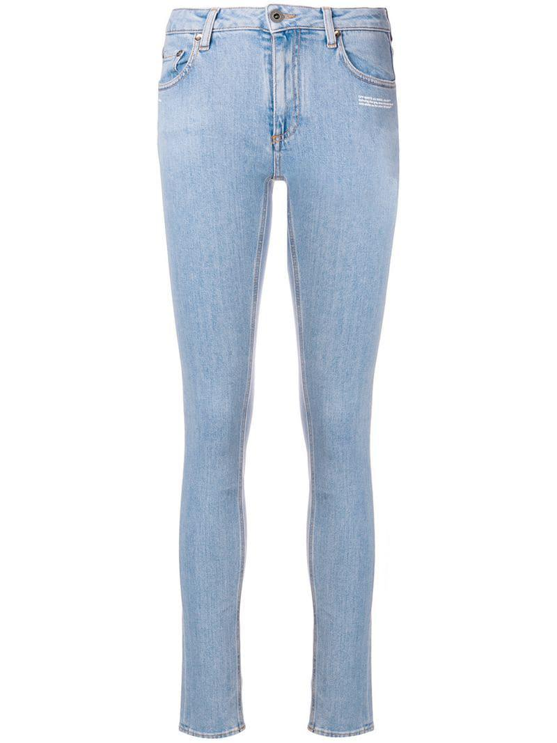 3d33107ab381 Off-White c o Virgil Abloh Skinny Jeans in Blue - Lyst