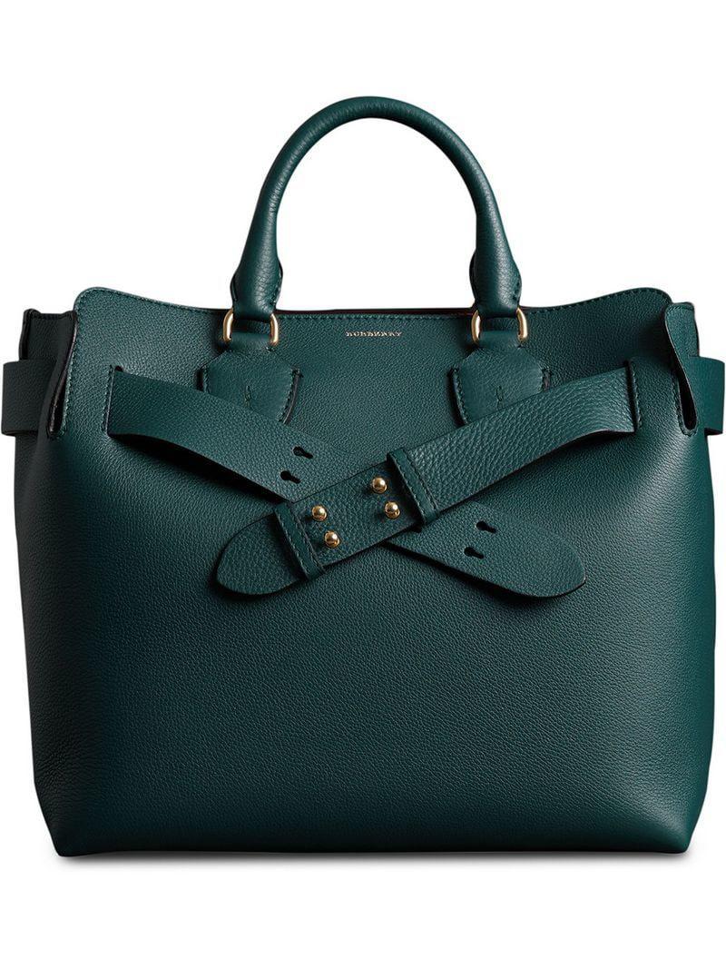 3783063b1a Burberry The Medium Leather Belt Bag in Blue - Lyst