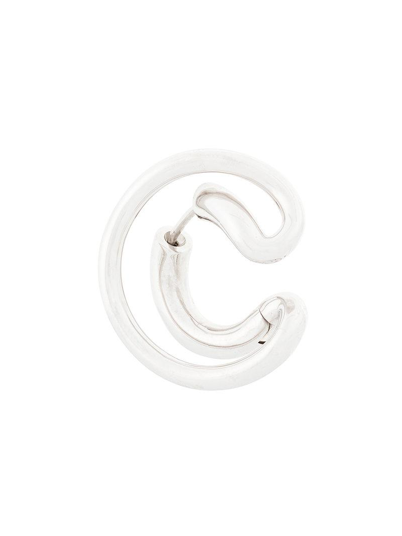 Charlotte Chesnais Ego Small single earring - Metallic eYAC4CS