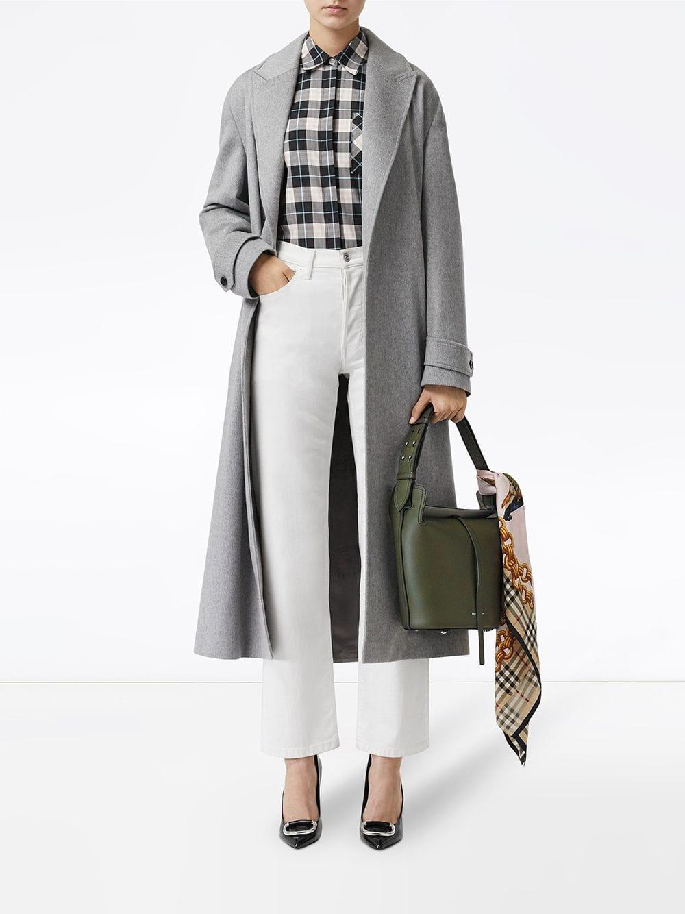 cbb9d2d268e5 Lyst - Burberry The Small Leather Bucket Bag in Green
