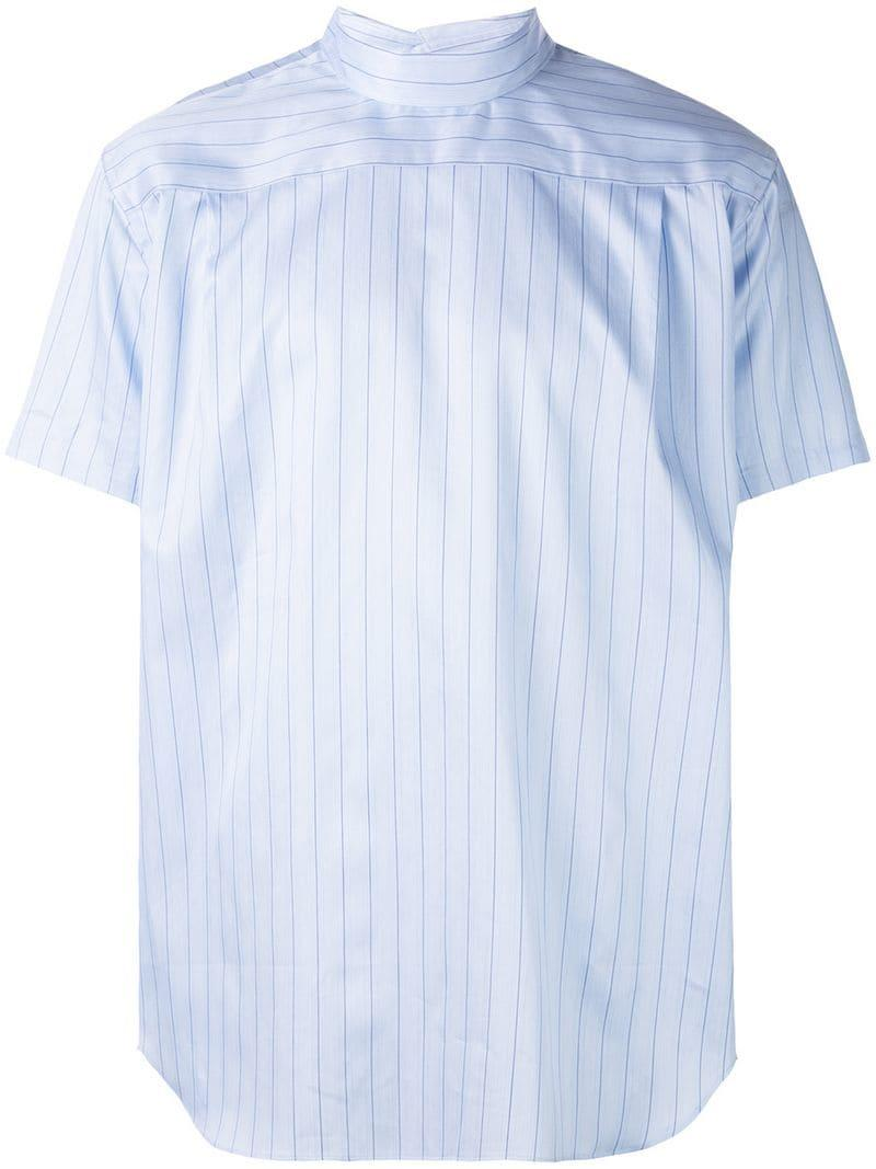 dfabdf5c83 Comme des Garçons Striped Shortsleeved Shirt in Blue for Men - Lyst