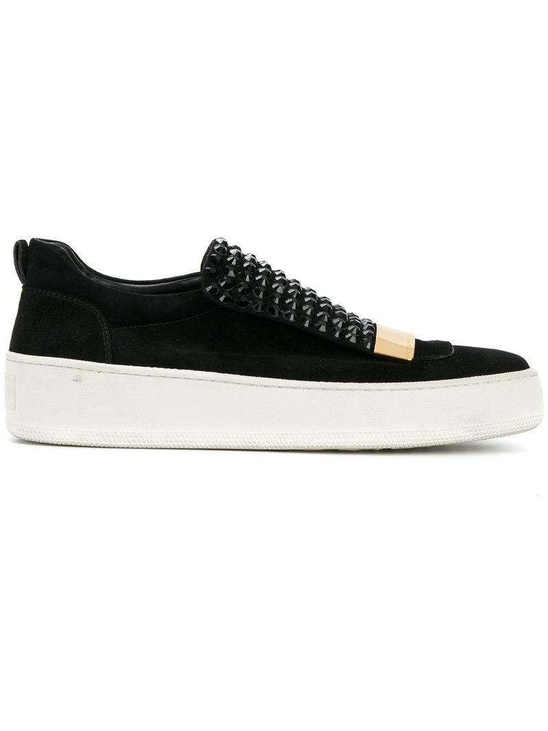 cheap the cheapest cheap sale sneakernews Sergio Rossi studded Blair sneakers yQyAuD