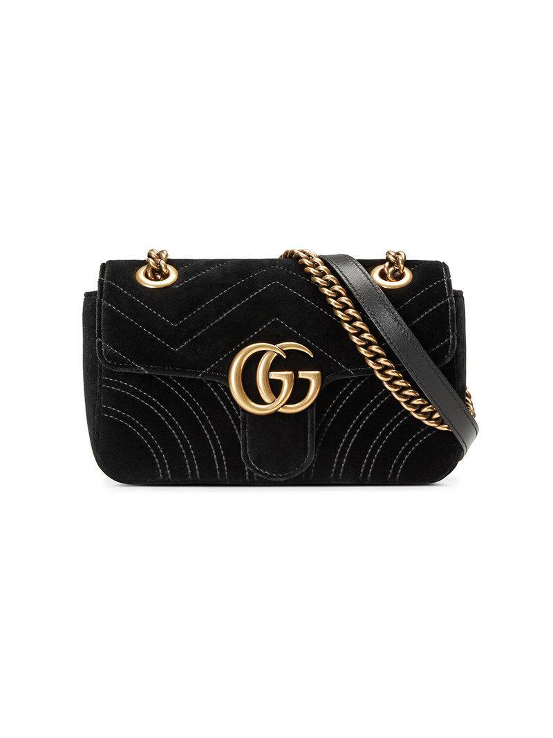 ec5d6bc079ad Gucci Gg Marmont Velvet Mini Bag in Black - Save 7.58064516129032 ...