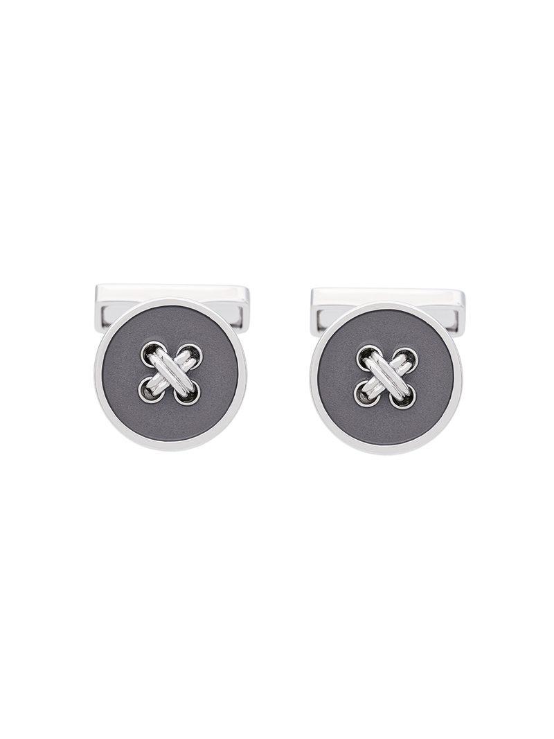 Canali button embellished cufflinks - Metallic l34K6