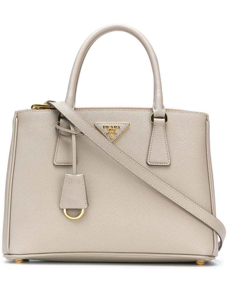 5203830f448b Prada Galleria Medium Tote in Gray - Lyst