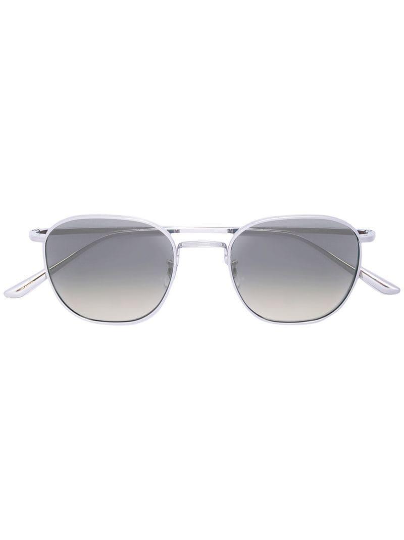 584cc739ba Lyst - Oliver Peoples Oversized Frame Sunglasses in Metallic for Men