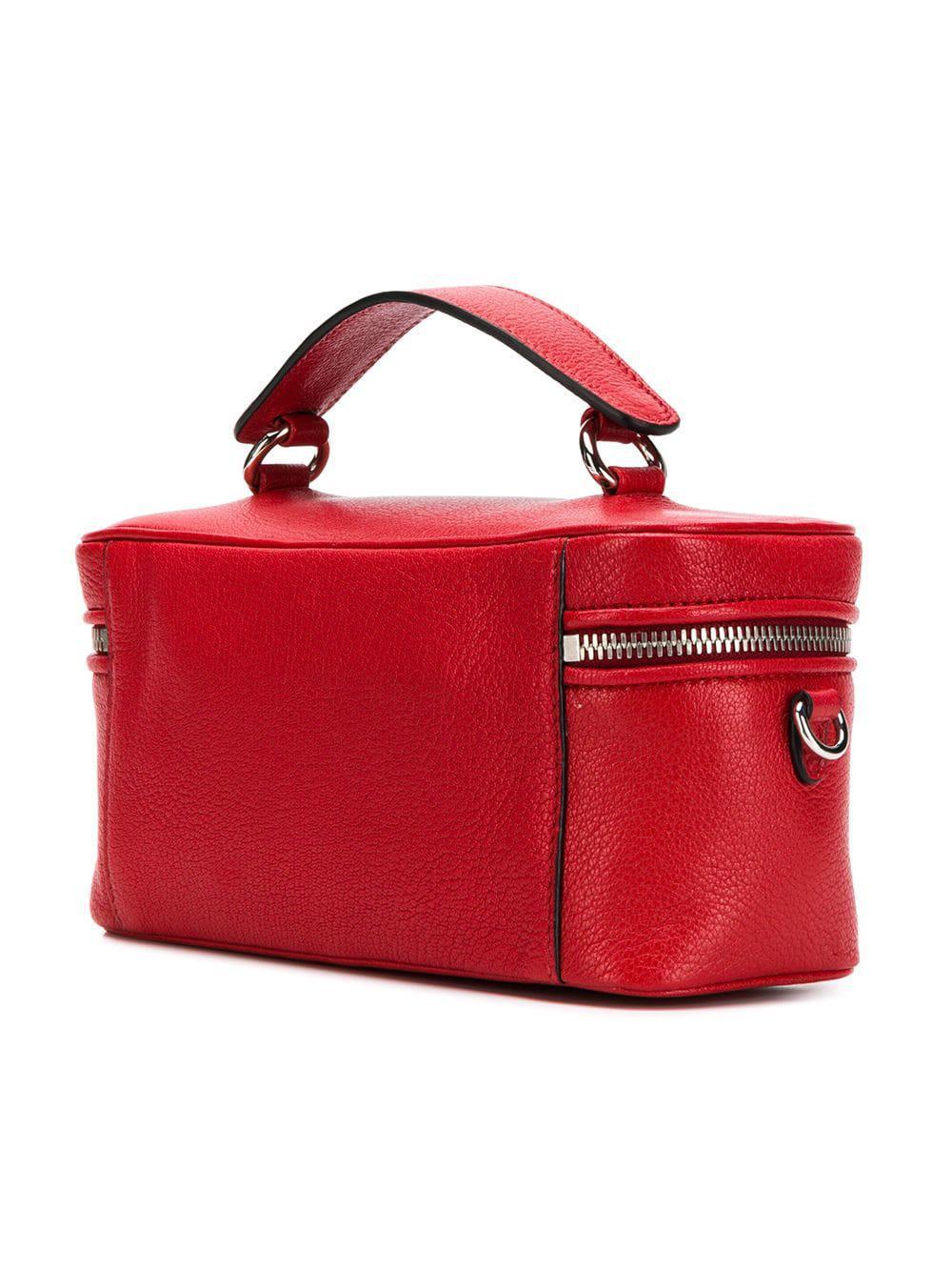 Lyst - Miu Miu Madras Bucket Bag in Red a2bd8fbbd8143