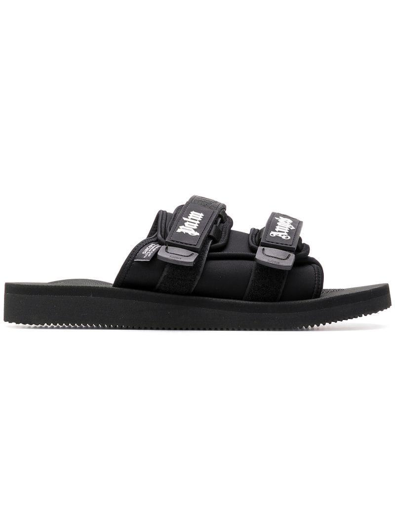 05178d384a1b Palm Angels Suicoke Slides in Black for Men - Lyst