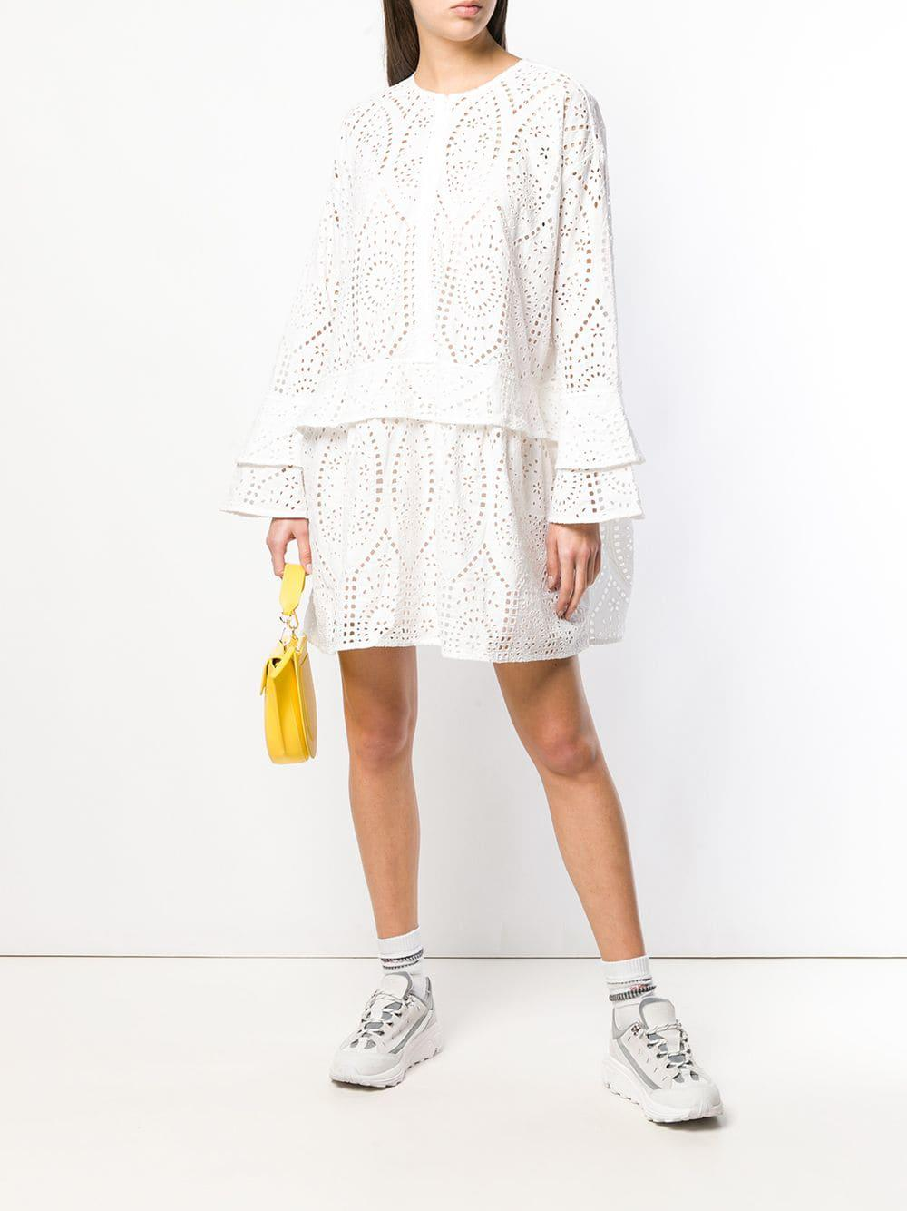 f30c6021 Ganni Falcon Mini Dress in White - Lyst