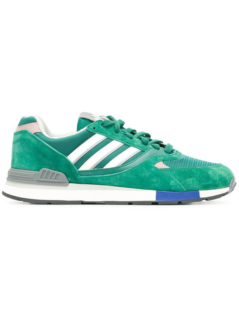 Lyst - Adidas Originals Quesence Sneakers in Green for Men d34b996c9