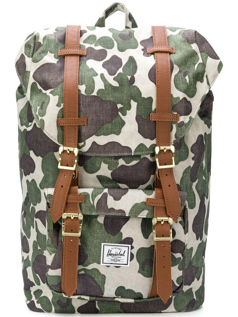 Herschel Supply Co. Green Little America Men s Backpack In Multicolour 4e2b7a0c29