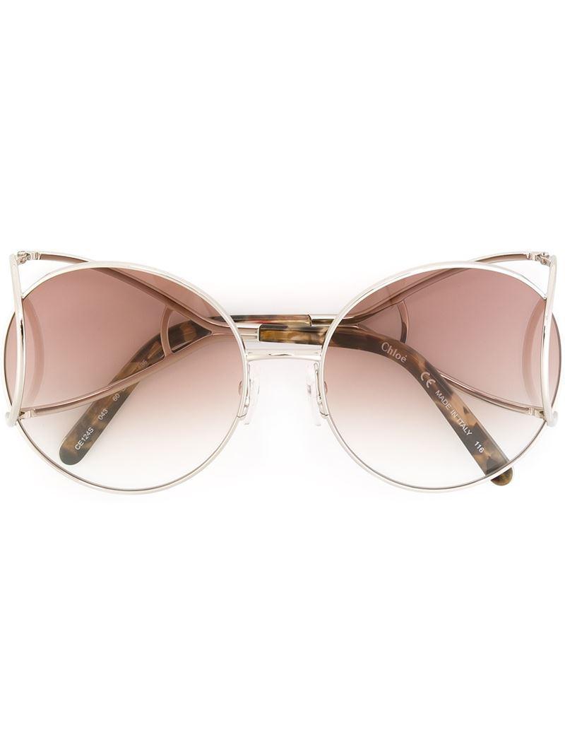 d7c158791e0 Chloé  jackson  Sunglasses in Brown - Lyst