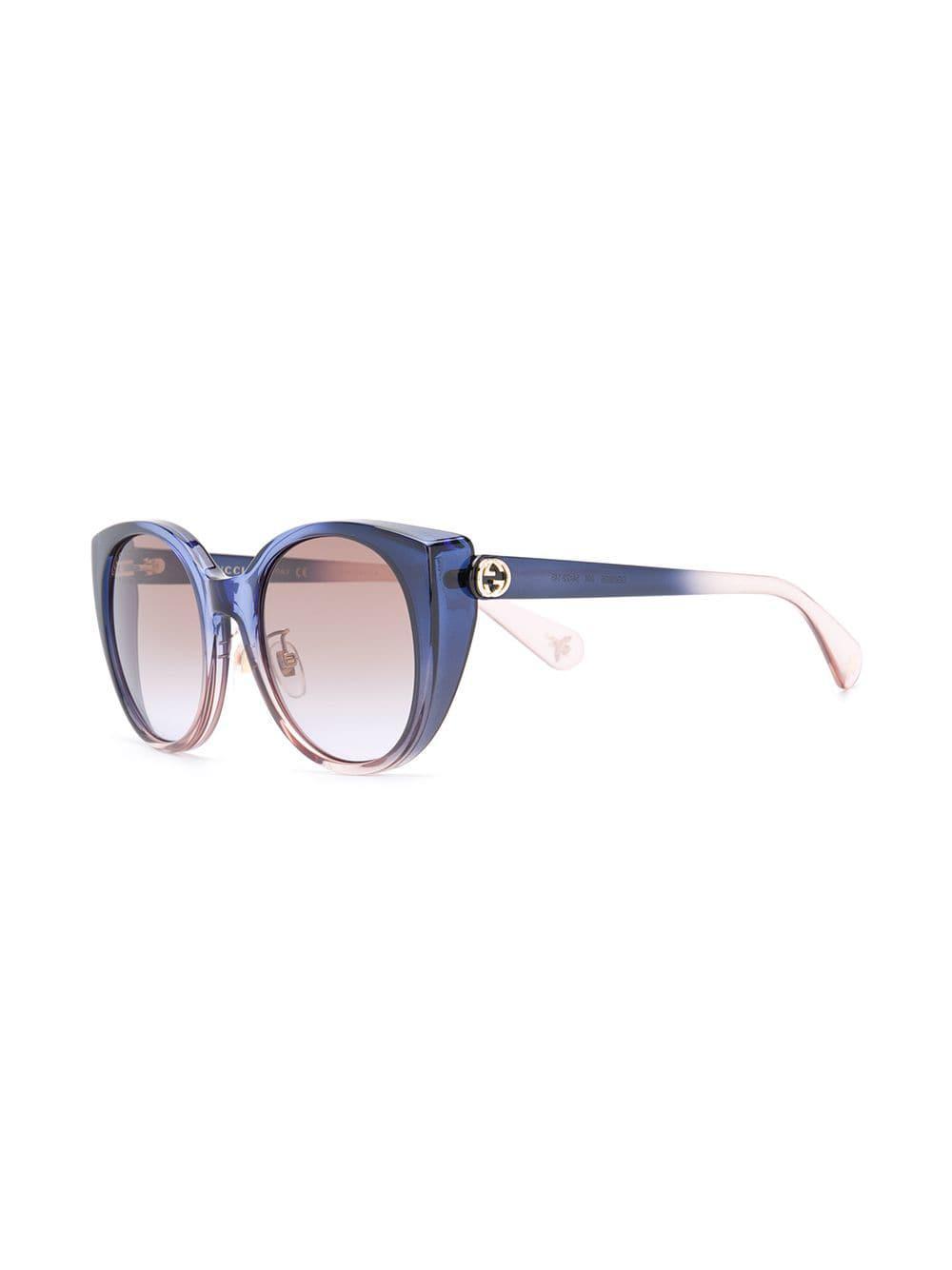 e489d59f744 Gucci Oversized Cat Eye Sunglasses in Blue - Lyst