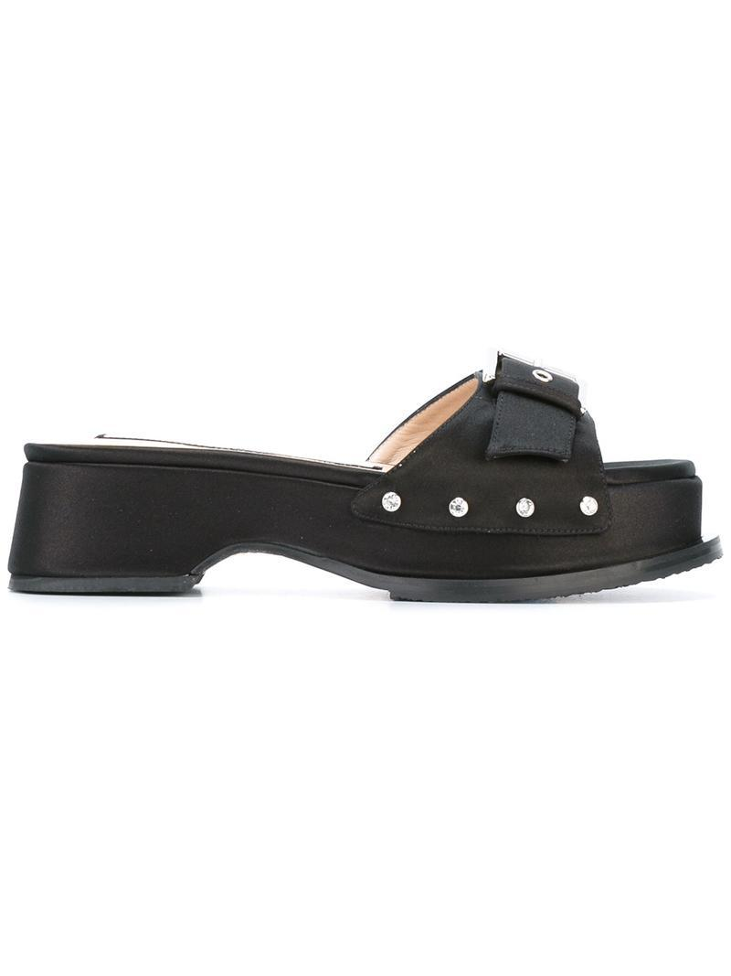 Pre Order buckled detailing platform sandals - Black N°21 Low Shipping Fee Sale Online Cheap The Cheapest Y3lh0xe