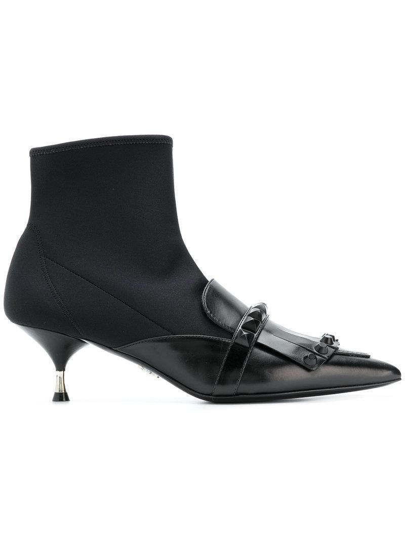 Lyst en Botas estilo calcetín con puntera en Lyst punta Prada de color Negro 4cf2e7
