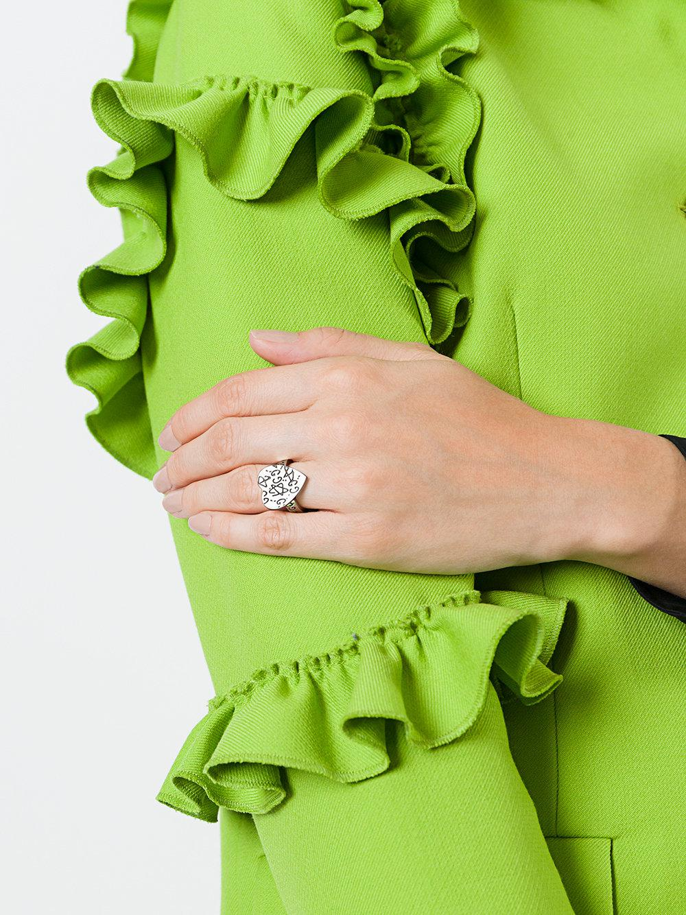 0cd8aa2d9d89 Lyst - Gucci Ghost Heart Ring in Metallic