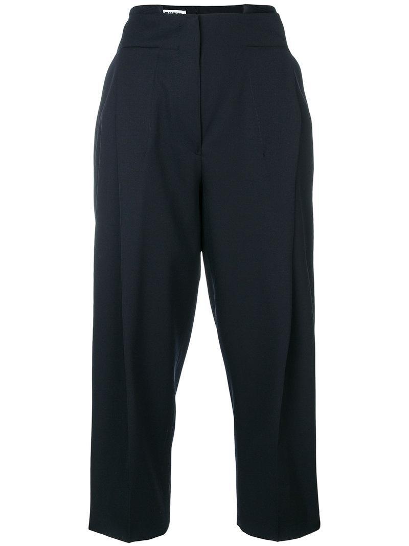 high waisted tapered trousers - Black Jil Sander nYsvbjnKP
