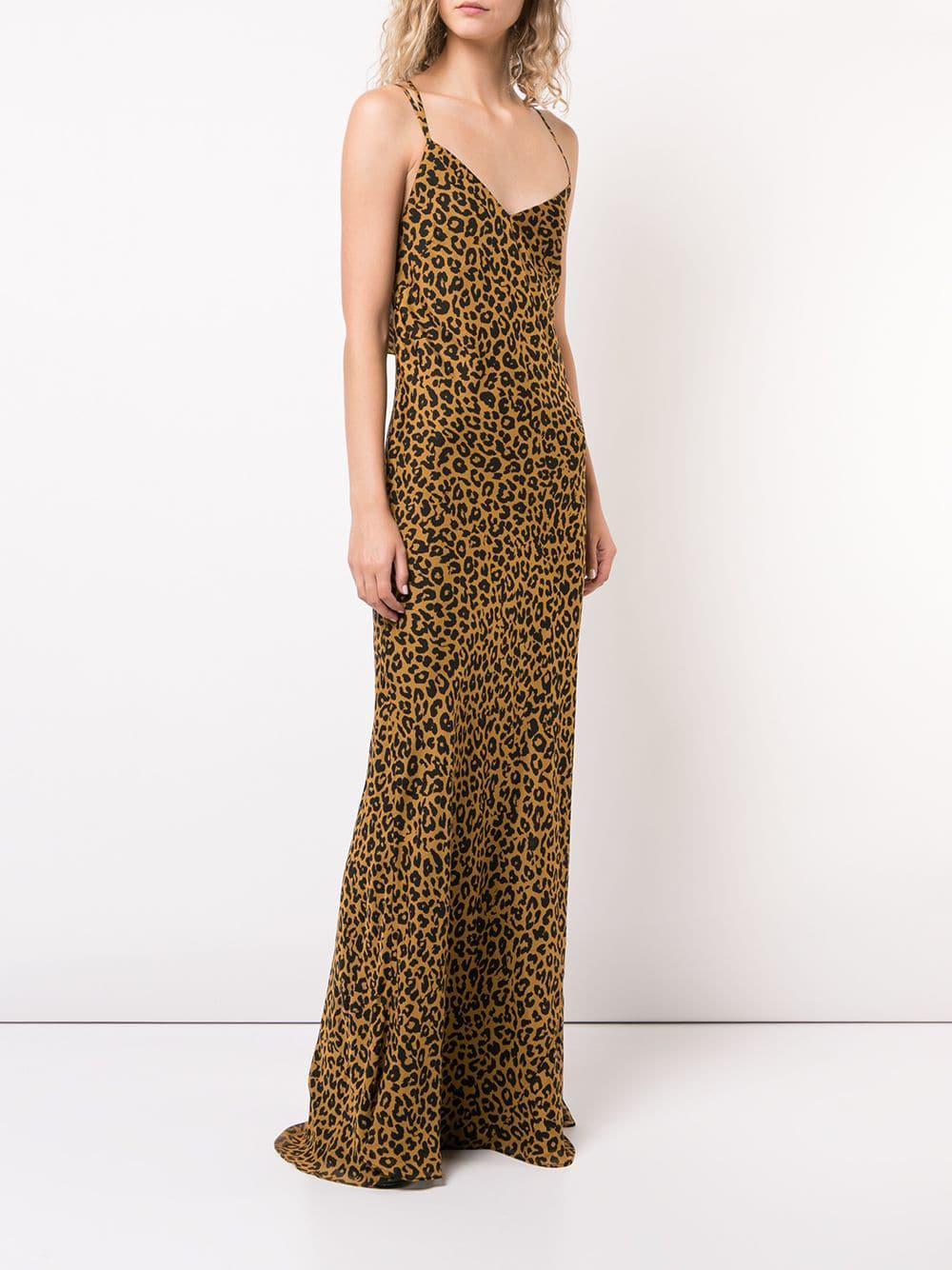 ab371ae57 Michelle Mason - Brown Leopard Print Bias Gown - Lyst. View fullscreen