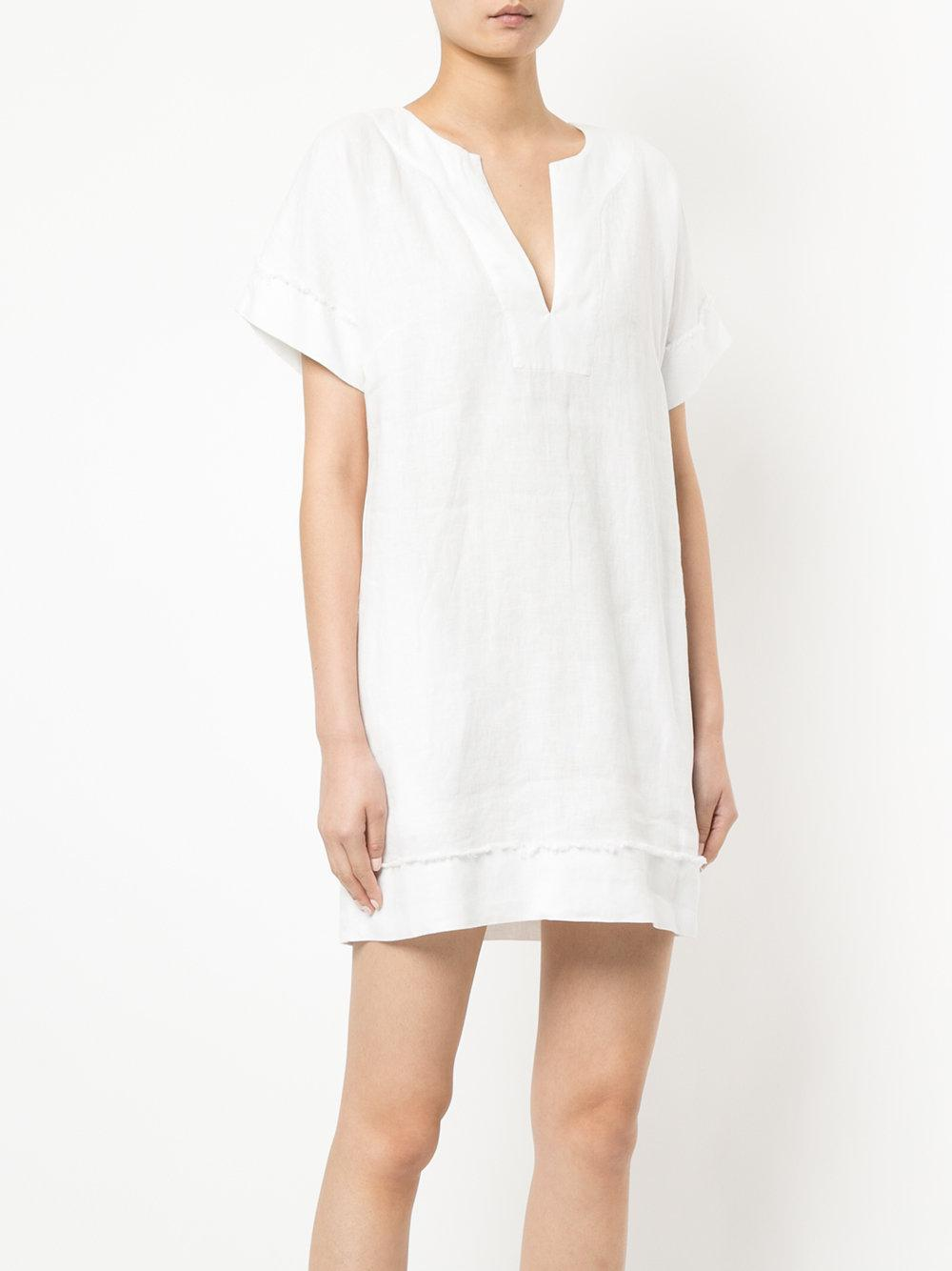 frayed detail shift dress - Nude & Neutrals Venroy 5EXVoyIn