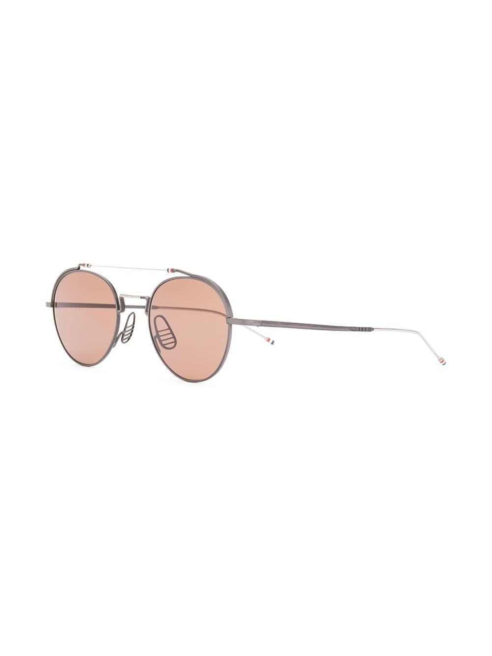 25dbbc294e4e Lyst - Thom Browne Black Iron   Silver Sunglasses in Black for Men