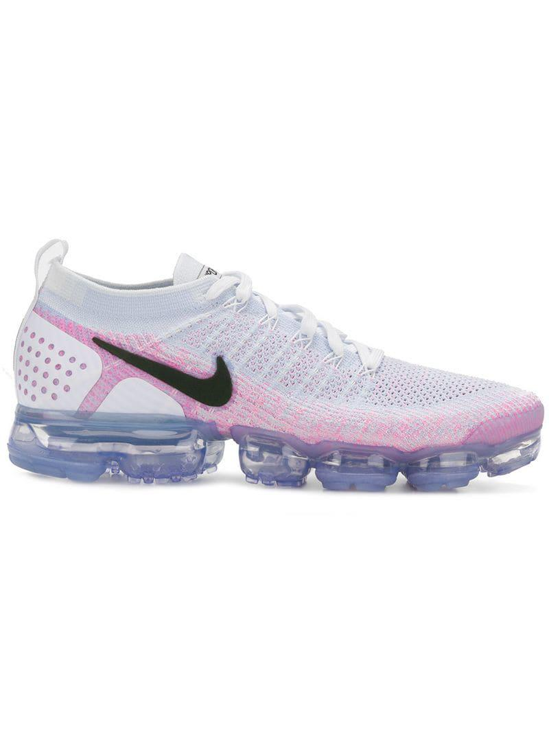 420a718ec66c7a Lyst - Nike Air Vapormax Flyknit Running 2  pink Beam  Sneakers in ...