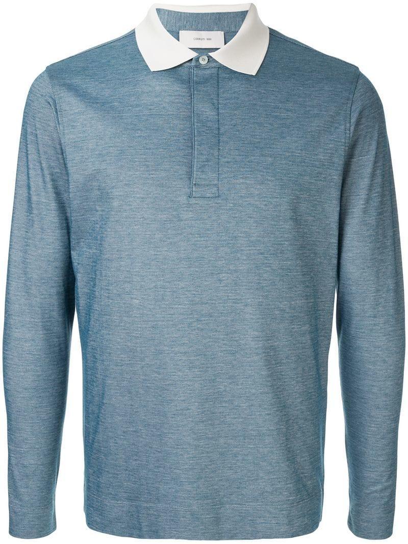 f6d41611 Lyst - Cerruti 1881 Basic Polo Shirt in Blue for Men