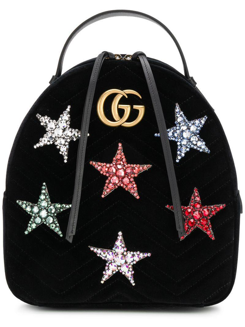 da6bfbb96e68 Gucci GG Marmont Star Backpack in Black - Save 1.5814806325922461 ...